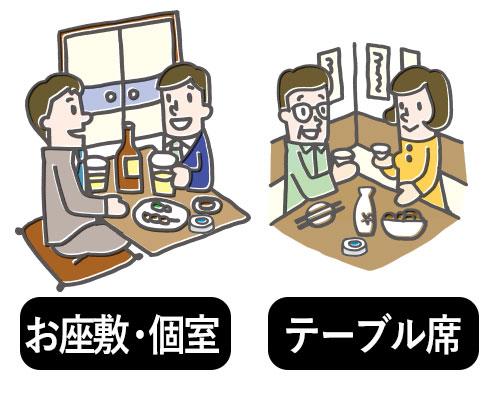 お座座敷・個室/テーブル席