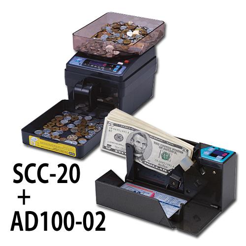 画像1: 計数機お得なセット SCC20+AD100-02  (1)