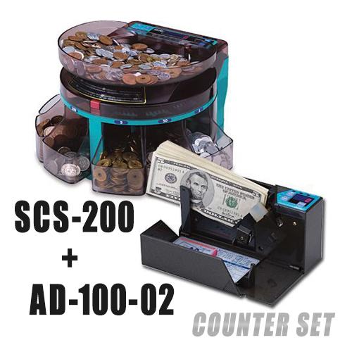 画像1: 計数機お得なセット SCS200+AD100-02 (1)